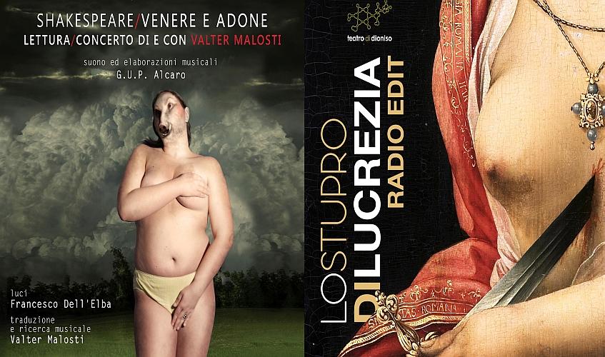 'Venere e Adone' e 'Lo stupro di Lucrezia' al  Teatro del Loto